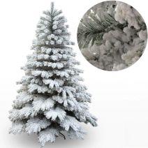 დაფიფქული ნაძვის ხე ჩასამაგრებელი ღეროებით 210 სმ