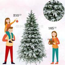 შერეული საახალწლო ნაძვის ხე დათოვლილი სილიკონის წიწვებით 180 სმ 