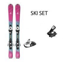 თხილამური SALOMON SKIS E QST LUX Jr XS 90 SET