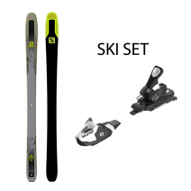 თხილამური SALOMON SKIS F-TIP QST 92 Grey/Black/GR 185 SET