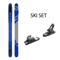 SKIS N QST 118 DARK BLUE 185 SET