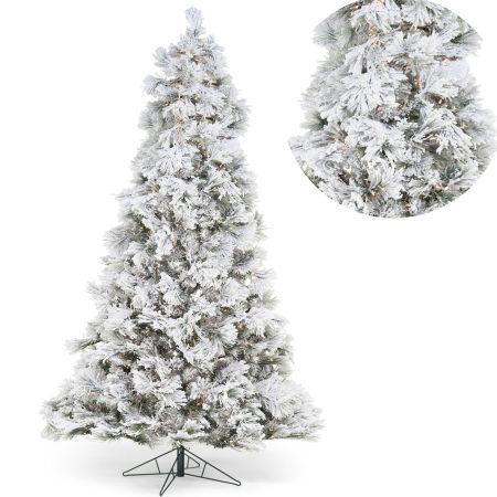 ხელოვნური ნაძვის ხე თეთრი 180 სმ